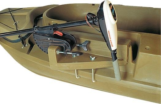 установка электро-мотора на лодке
