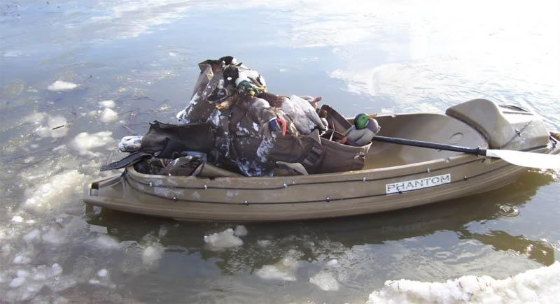 легкая одноместная лодка для охоты