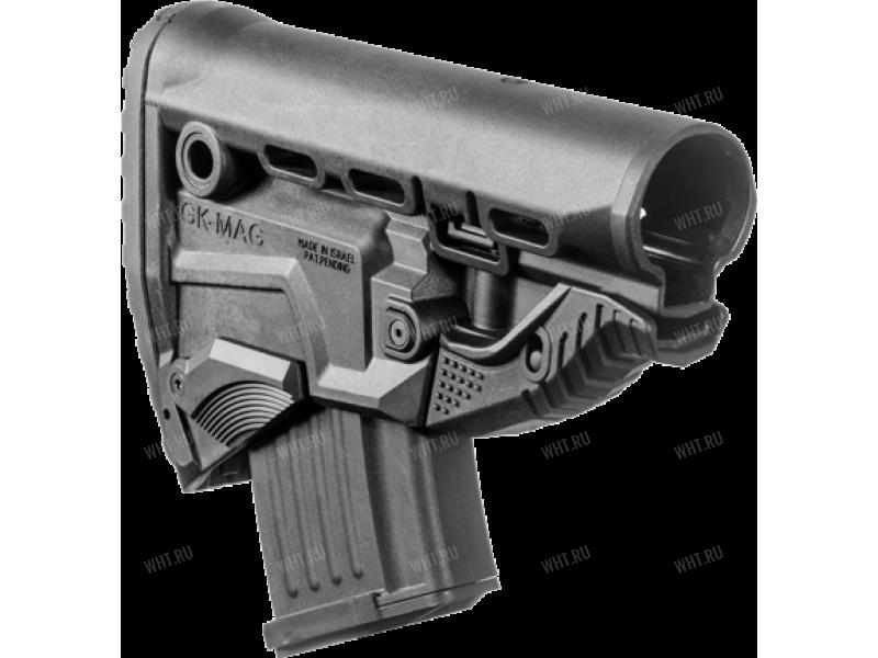 Приклад с магазином на 10 патронов 7.62х39 для AK47/АК74/САЙГА GK-MAG, без трубки (чёрный)