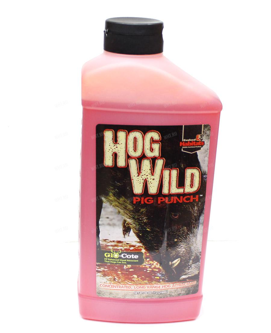 Приманка на кабана Hog Wild PIG PUNCH (гель), 1,2 л